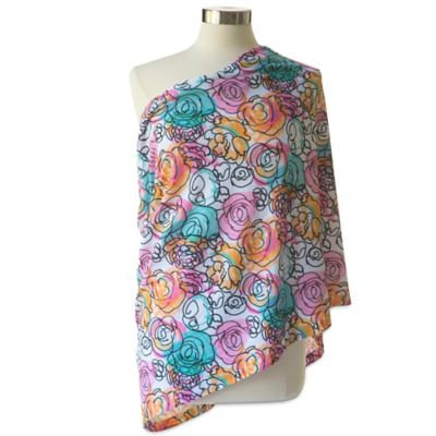 Itzy Ritzy Nursing Happens Infinity Breastfeeding Scarf - Watercolor Bloom