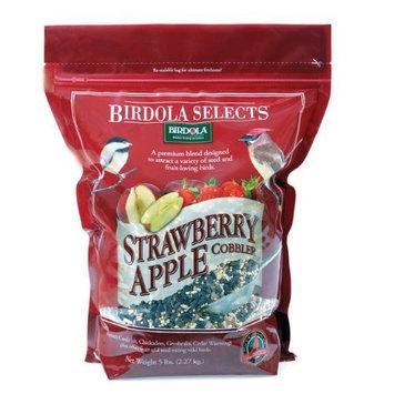 Birdola 54580 Strawberry Apple Cobbler Bird Food, 5-Pound