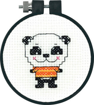 Dimensions Acquisition Llc Dimensions Learn A Craft Cute Panda Counted Cross Stitch Kit - DIMENSIONS ACQUISITION LLC
