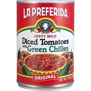 LA PREFERIDA DICED TOMATO WITH GREEN CHILI