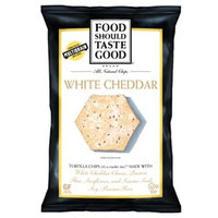 FoodShouldTasteGood White Cheddar Tortilla Chip, 5.5-Ounce Bags (Pack of 12)