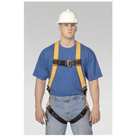 Miller Fall Protection Universal Full Body Harness With Sliding Back D Ring Matting, Buckle Legs, Chest, Shoulder Straps And Sub-Pelvic Strap