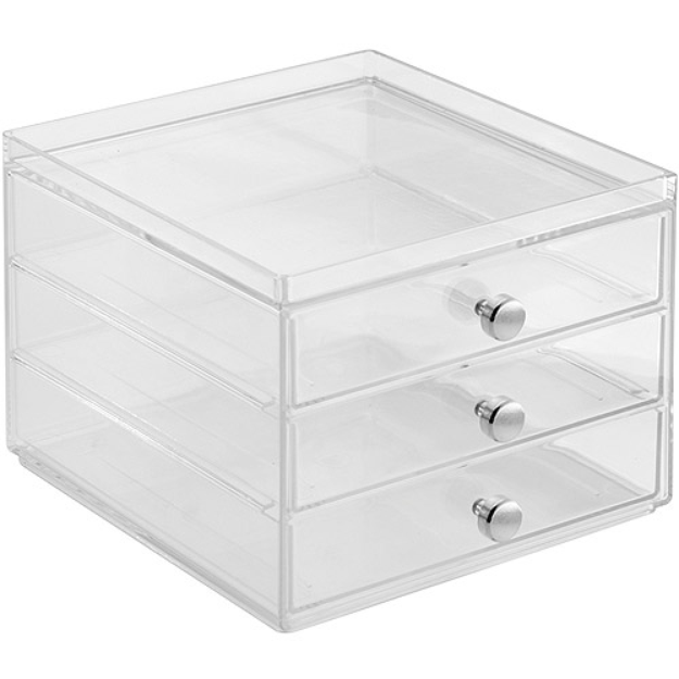 InterDesign Storage and Organization Drawers, 3-Drawer Slim