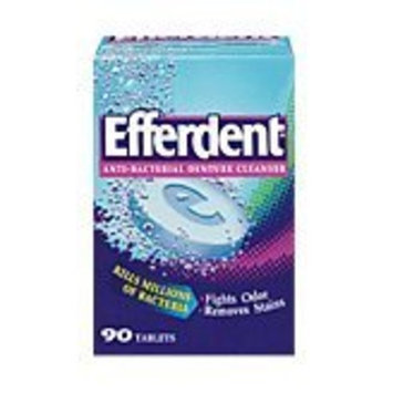 Efferdent Denture Cleanser, Anti-Bacterial, Bonus Pack, 90 ct.