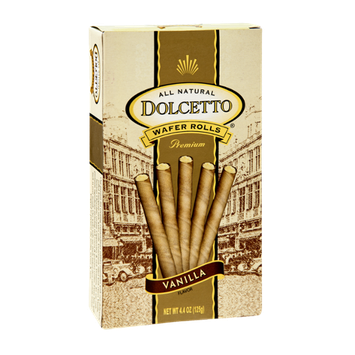 Dolcetto All Natural Premium Vanilla Wafer Rolls