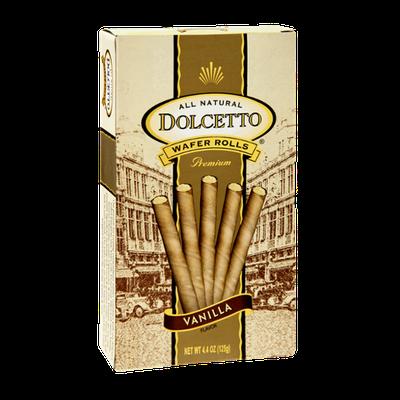 Dolcetto All Natural Premium Vanilla Wafer Rolls