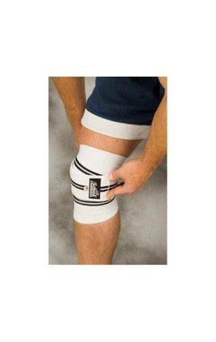 Schiek Knee Wraps with Velcro Closure Color: White