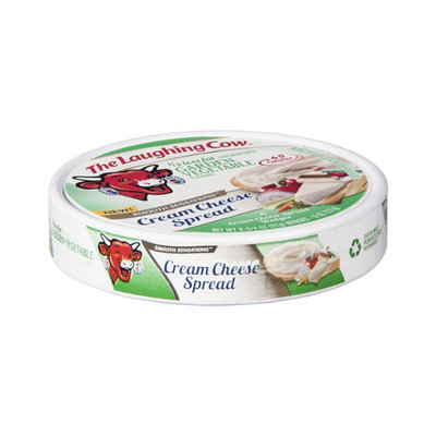 The Laughing Cow 1/3 Less Fat Than Cream Cheese Garden Vegetable Cream Cheese Spread Wedges - 8 CT