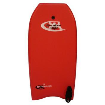 Hawaiian Style Hawaiian Shorebreaker Bodyboard - Red (39