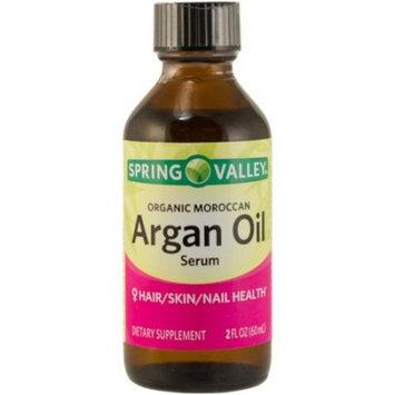 Spring Valley Organic Moroccan Argan Oil Serum Dietary Supplement, 2 fl oz