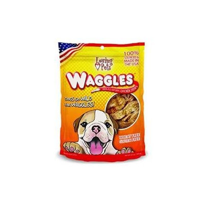Loving Pets Waggles 100-Percent All Natural Chicken Skins Dog Treat, 6.5-Ounce LP5297