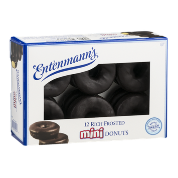 Entenmann's Mini Donuts Rich Frosted - 12 CT
