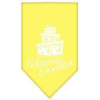 Mirage Pet Products 6689 LGYW Wedding Crasher Screen Print Bandana Yellow Large