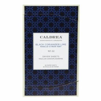 Caldrea Dryer Sheets, Black Coriander Lime, 80 ea