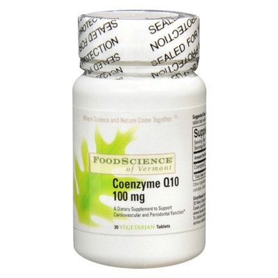 FoodScience of Vermont Coenzyme Q10 100 mg Dietary Supplement Tablets