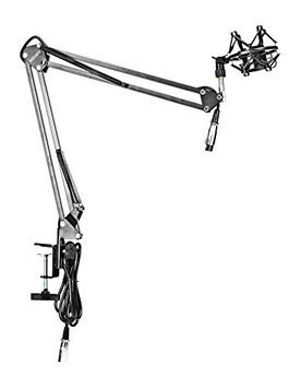 Neewer Microphone Suspension Boom Scissor Arm Stand W/Shock Mount For Broadcast Studio