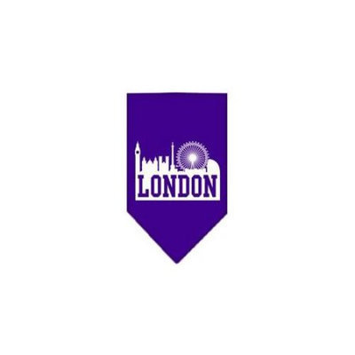 Ahi London Skyline Screen Print Bandana Purple Small