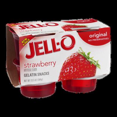 JELL-O Gelatin Snacks Strawberry Original - 4 CT
