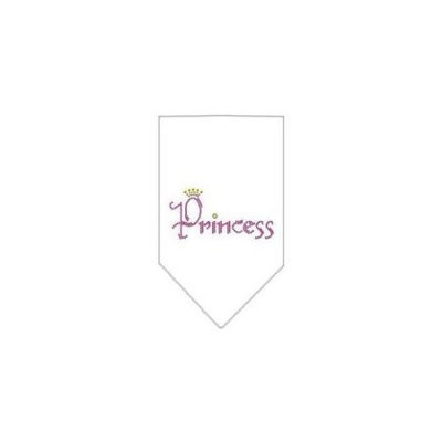 Ahi Princess Rhinestone Bandana White Small