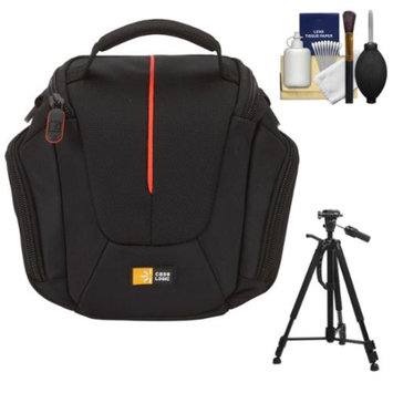 Case Logic DCB-304 High Zoom Digital Camera Holster Bag (Black) with Deluxe Photo/Video Tripod + Accessory Kit
