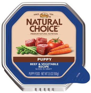 Nutro Natural Choice Beef & Vegetable Dinner Slices in Gravy Puppy Food