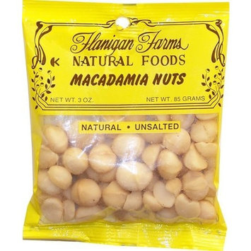 Flanigan Farms Natural Foods Macadamia Nuts, Whole, Raw, Unsalted 3oz (6 Pack)