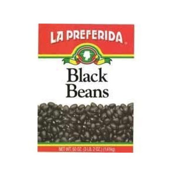 La Preferida Beans Black, 50-Ounce (Pack of 12)