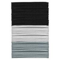 Gimme Clips Gimme Basics Long Thin Hair Elastics - Black/White/Grey ( 50 Count)