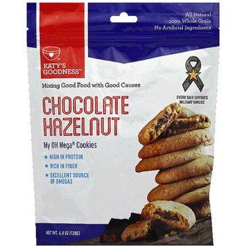 Katy's Goodness My OH Mega Chocolate Hazelnut Cookies, 4.8 oz (Pack of 6)