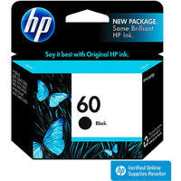HP 60 Ink Cartridge - Black (CC640WN#140)