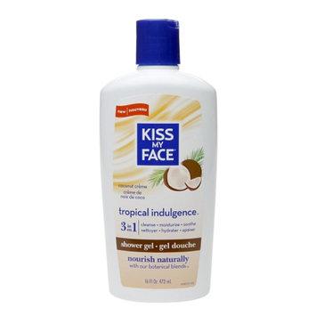 Kiss My Face Tropical Indulgence Shower Gel, Coconut Creme, 16 fl oz