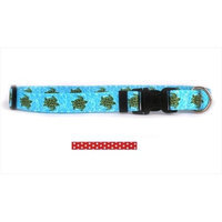 Yellow Dog Design NRP101S New Red Polka Dot Standard Collar - Small