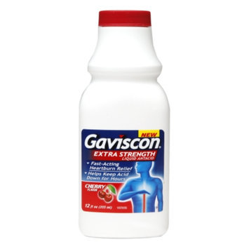 Gaviscon Liquid Antacid, Regular Strength, Cherry Flavor, 12 fl oz
