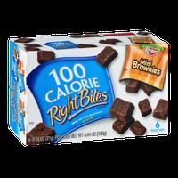 100 Calorie Right Bites Mini Brownies - 6 CT