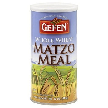 Gefen Matzo Meal, Canister, Whole Wheat, 12-ounces (Pack of 4)