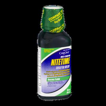 CareOne Multi-Symptom Nitetime Cold/Flu Relief Original Flavor