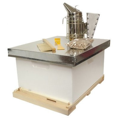 Harvest Lane Honey Beekeeping Beehive Starter Kit; 1 Box with Accessories