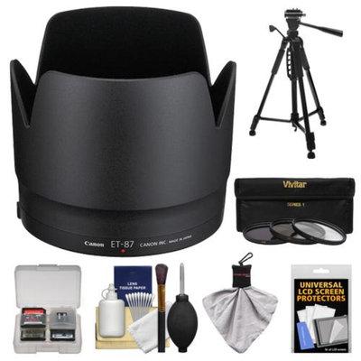 Canon ET-87 Hard Lens Hood & 3 (UV/ND8/CPL) Filter Set + Tripod for EF 70-200mm f/2.8 L IS II USM Lens