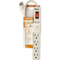 Woods 041350 6 Outlet Power Strip 1.5-Foot Cord