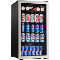 Danby 3.3-cu ft Beverage Center, Black and Stainless Steel