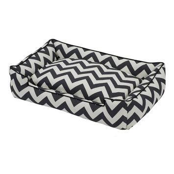 Jax & Bones Premium Cotton Lounge Pet Bed Ziggy Black/White, Size: Small