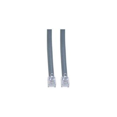 CableWholesale 8102-66225 Telephone Cord (Voice), RJ12, 6P, 6C, Silver Satin, Reverse, 25 foot