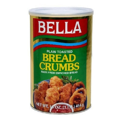 Bella Plain Bread Crumbs, 16-Ounce (Pack of 12)