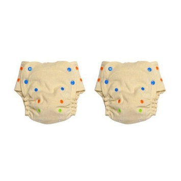 BabyKicks 2 Pack Organic One Size Fitted Diaper, Natural