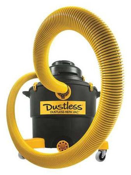 Dustless Technologies--love Less Ash Co DUSTLESS TECHNOLOGIES-LOVE LESS ASH CO D1606 Wet/Dry Vacuum, Peak HP 5