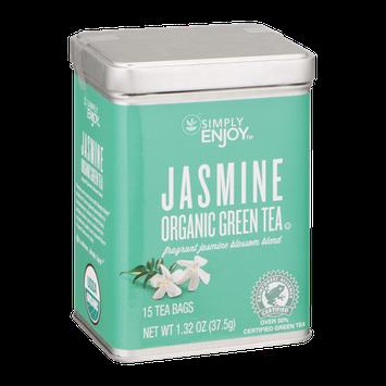 Simply Enjoy Jasmine Organic Green Tea Bags - 15 CT