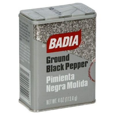 Badia Black Pepper Ground Can, 4-Ounce (Pack of 6)