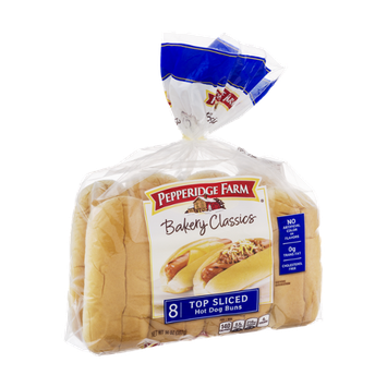 Pepperidge Farm Bakery Classics Top Sliced Hot Dog Buns - 8 CT