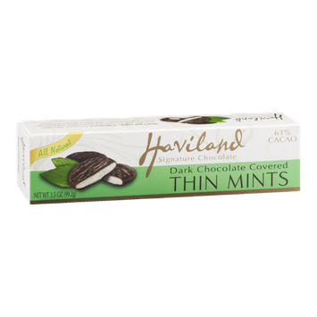 Haviland Dark Chocolate Covered Thin Mints 63% Cacao