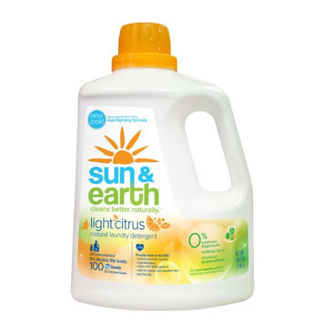 Sun & Earth Sun and Earth 2X Laundry Detergent - Light Citrus Scent- Case of 4 - 100 oz - HSG-191338